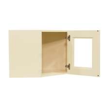 Load image into Gallery viewer, Oxford Wall Mullion Door Diagonal Corner Cabinet 1 Door No Shelf Glass Not Included
