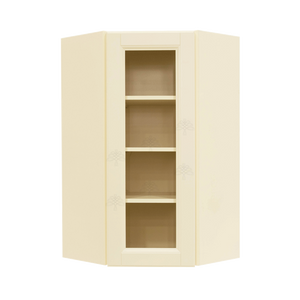 Oxford Wall Mullion Door Diagonal Corner Cabinet 1 Door 3 Adjustable Shelves Glass Not Included