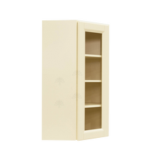 Load image into Gallery viewer, Oxford Wall Mullion Door Diagonal Corner Cabinet 1 Door 3 Adjustable Shelves Glass Not Included