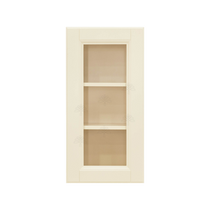 Oxford Wall Mullion Door Cabinet 1 Door 2 Adjustable Shelves Glass Not Included