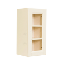 Load image into Gallery viewer, Oxford Wall Mullion Door Cabinet 1 Door 2 Adjustable Shelves Glass Not Included