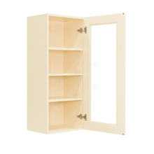 Load image into Gallery viewer, Oxford Wall Mullion Door Cabinet 1 Door 3 Adjustable Shelves Glass Not Included