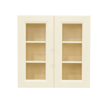Load image into Gallery viewer, Oxford Wall Mullion Door Cabinet 2 Doors 2 Adjustable Shelves Glass Not Included