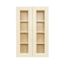 Load image into Gallery viewer, Oxford Wall Mullion Door Cabinet 2 Doors 3 Adjustable Shelves Glass Not Included