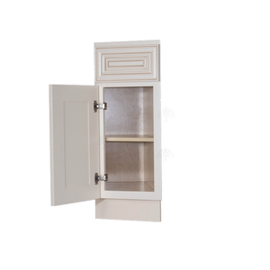 Princeton Creamy White Glazed Base End Angle Cabinet 1 Fake Drawer 1 Door 1 Adjustable Shelf (Left)