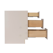 Load image into Gallery viewer, Princeton Creamy White Glazed Base Drawer Cabinet 3 Drawers