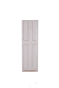 Princeton Creamy White Glazed Tall Pantry 2 Upper Doors and 2 Lower Doors