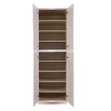 Load image into Gallery viewer, Princeton Creamy White Glazed Tall Pantry 2 Upper Doors and 2 Lower Doors