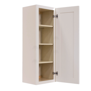 Princeton Creamy White Glazed Wall Cabinet 1 Door 3 Adjustable Shelves