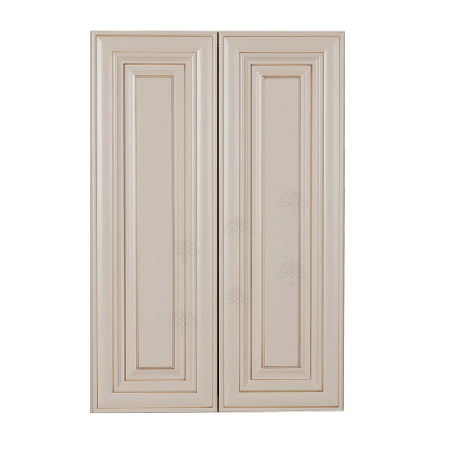 Princeton Creamy White Glazed Wall Cabinet 2 Doors 2 Adjustable Shelves
