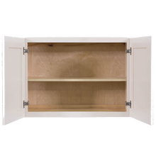 Load image into Gallery viewer, Princeton Creamy White Glazed Wall Cabinet 2 Doors 1 Adjustable Shelf