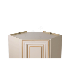 Load image into Gallery viewer, Princeton Creamy White Glazed Wall Diagonal Corner 1 Door 2 Adjustable Shelves