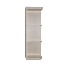 Load image into Gallery viewer, Princeton Creamy White Glazed Wall Open End Shelf No Door 2 Fixed Shelves (Right)