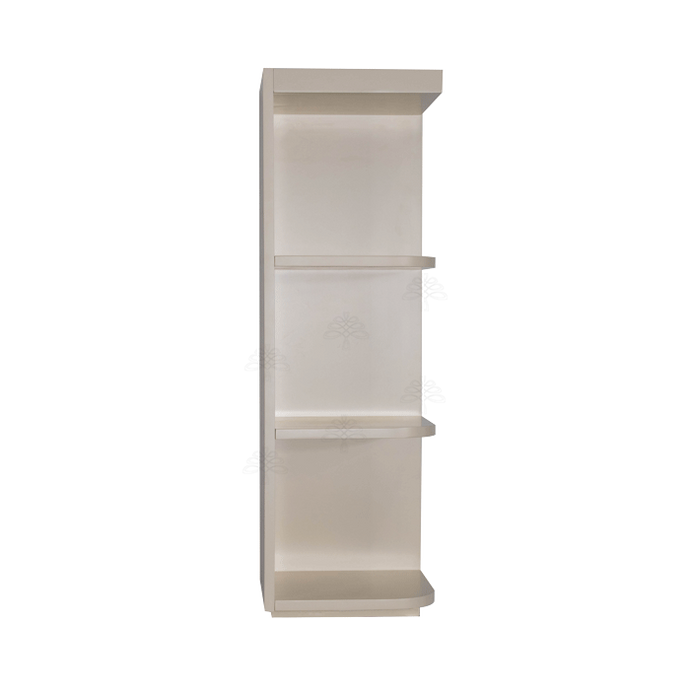 Princeton Creamy White Glazed Wall Open End Shelf No Door 2 Fixed Shelves (Right)