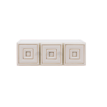 Load image into Gallery viewer, Princeton Creamy White Glazed Wall Small Drawer Cabnet 3 Drawers