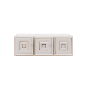 Princeton Creamy White Glazed Wall Small Drawer Cabnet 3 Drawers