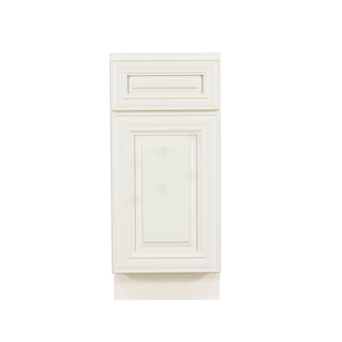 Princeton Off-white Base Cabinet 1 Drawer 1 Door 1 Adjustable Shelf