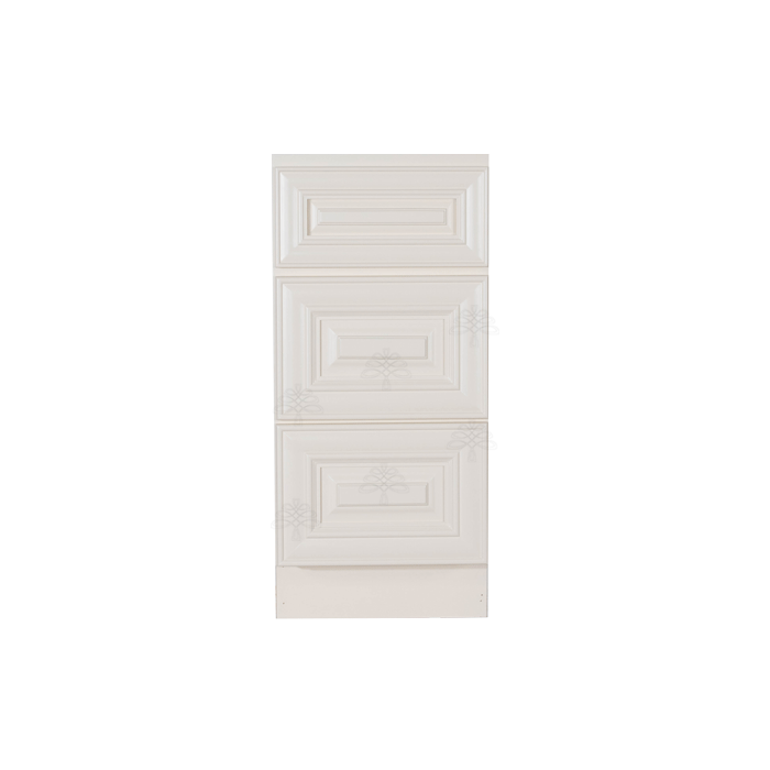 Princeton Off-white Vanity Drawer Base Cabinet 3 Drawers