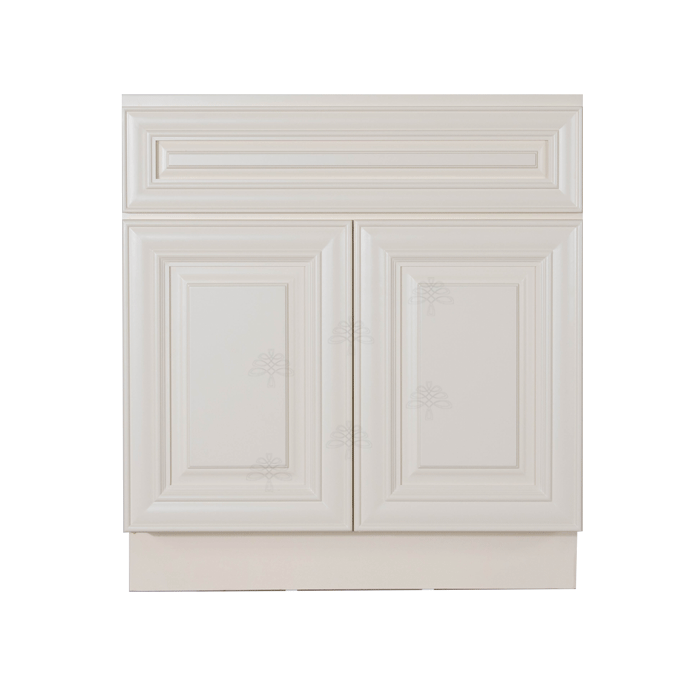 Princeton Off-white Vanity Sink Base Cabinet 1 Dummy Drawer 2 Doors
