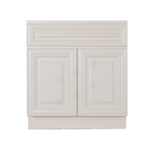 Load image into Gallery viewer, Princeton Off-white Vanity Sink Base Cabinet 1 Dummy Drawer 2 Doors