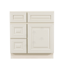 Load image into Gallery viewer, Princeton Off-white Vanity Sink Base Cabinet 1 Dummy Drawer 1 Door (Left)