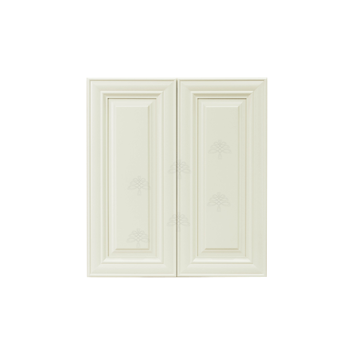 Princeton Off-White Wall Cabinet 2 Doors 2 Adjustable Shelves With 30-inch Height