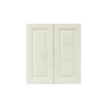 Load image into Gallery viewer, Princeton Off-White Wall Cabinet 2 Doors 2 Adjustable Shelves With 30-inch Height