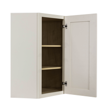 Load image into Gallery viewer, Princeton Off-white Wall Diagonal Corner 1 Door 2 Adjustable Shelves