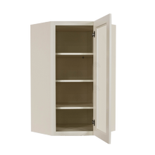 Load image into Gallery viewer, Princeton Off-white Wall Diagonal Mullion Door Cabinet 1 Door 3 Adjustable Shelves Glass not Included
