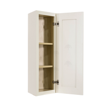 Load image into Gallery viewer, Princeton Off-white Wall End Angle Cabinet 1 Door 2 or 3 Shelves