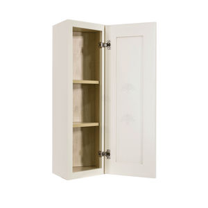 Princeton Off-white Wall End Angle Cabinet 1 Door 2 or 3 Shelves