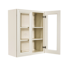 Load image into Gallery viewer, Princeton Off-white Wall Mullion Door Cabinet 2 Doors 2 Adjustable Shelves Glass not Included