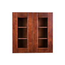 Load image into Gallery viewer, Wurzburg Wall Mullion Door Cabinet 2 Doors 2 Adjustable Shelves 30 Inch Height Glass Not Included