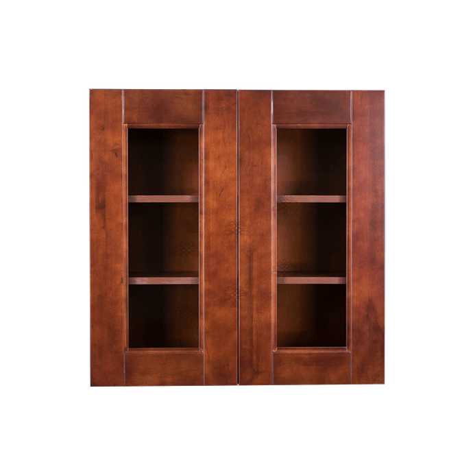 Wurzburg Wall Mullion Door Cabinet 2 Doors 2 Adjustable Shelves 30 Inch Height Glass Not Included
