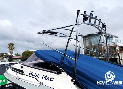 Stainless steel rocket launcher boat
