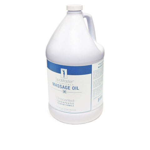 Master Massage - Organic, Unscented, Vitamin-Rich and Water-Soluble Massage Oil - 1 Gallon (30702)