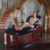 "Image of Master Massage 31"" MONTCLAIR™ Stationary Massage Table Package with Lift Back Action"