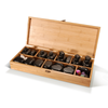 Image of Master Massage Deluxe Hot Stone Set with Bamboo Box (Basalt Rock & Marble - 70 pcs)