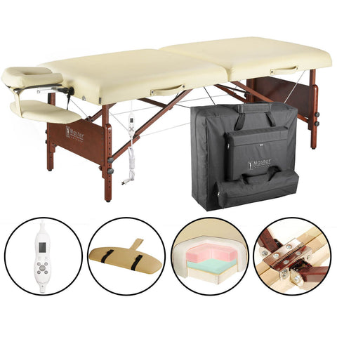 "Master Massage Del Ray 30"" Portable Massage Table with Therma-Top (20256)"