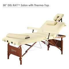 "Master Massage 30"" DEL RAY™ Salon Portable Massage Table with Therma-Top - 28291"