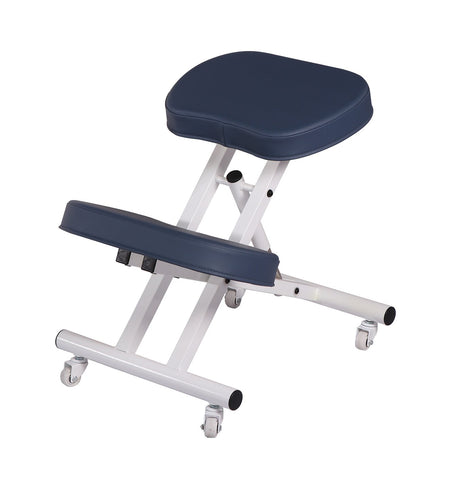 Master Massage Ergonomic Steel Kneeling Chair - Royal Blue
