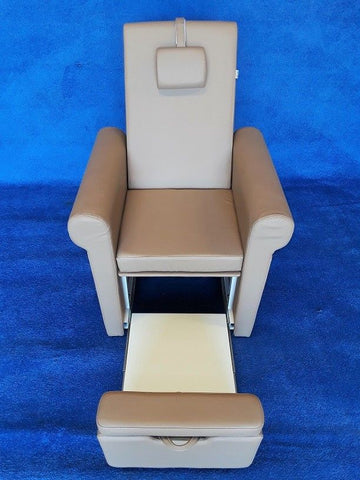 USA Salon and Spa Lumina Pipeless Spa Pedicure Chair, Sand (No Plumbing Required) - 4200