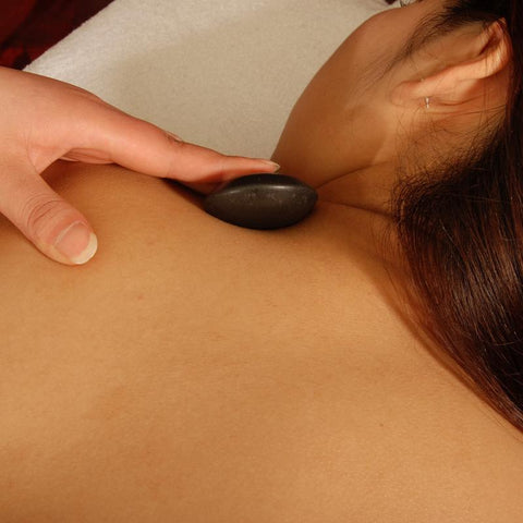 Master Massage Contour Shape Hot Stone Set for Hot Stone Massage (Basalt Rock - 10 pcs)