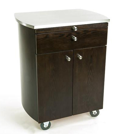 Touch America Timbale Service Esthetician Rolling Cart - Wenge (SKU: 41045)