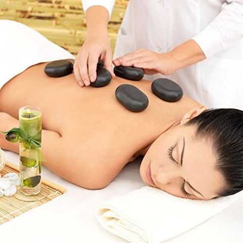 Master Massage  Hot Stone Set for Feet and Toes (Basalt Rock - 8 Pcs)