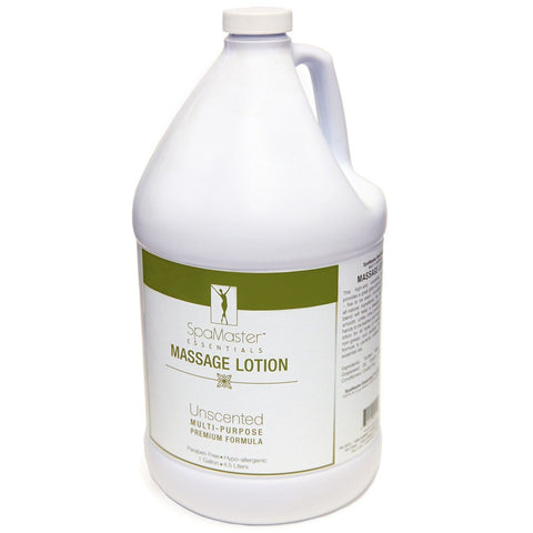 Master Massage - Organic, Unscented, Vitamin-Rich and Water-Soluble Massage Lotion - 1 Gallon (30703)