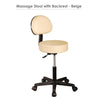 Image of Master Massage Pneumatic Rolling Massage Stool with Backrest