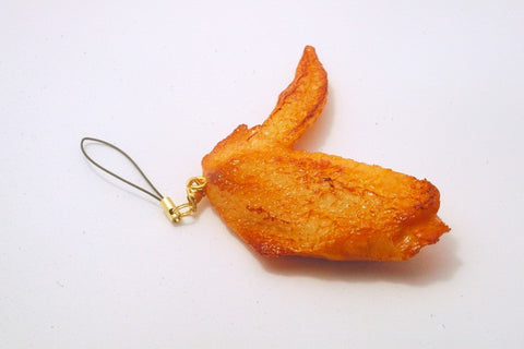 Chicken Wing Cell Phone Charm/Zipper Pull