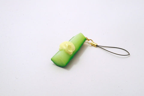 Cucumber Cell Phone Charm/Zipper Pull
