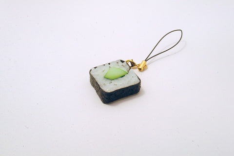 Cucumber Roll Sushi Cell Phone Charm/Zipper Pull